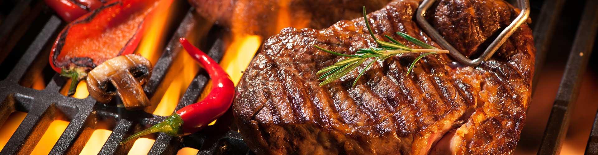 Steak auf dem Grillrost